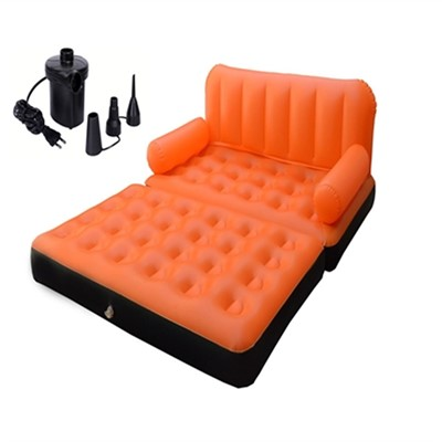 5in1 air sofa cum bed orange color