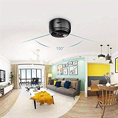 GLE WiFi Mini Camera HD Wireless Cam Magnetic Security Camera Built in Battery with Motion Detection Night Vision Security Camera