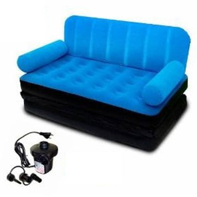 Velvet 5in1 Air Sofa Bed Couch Blue Colour